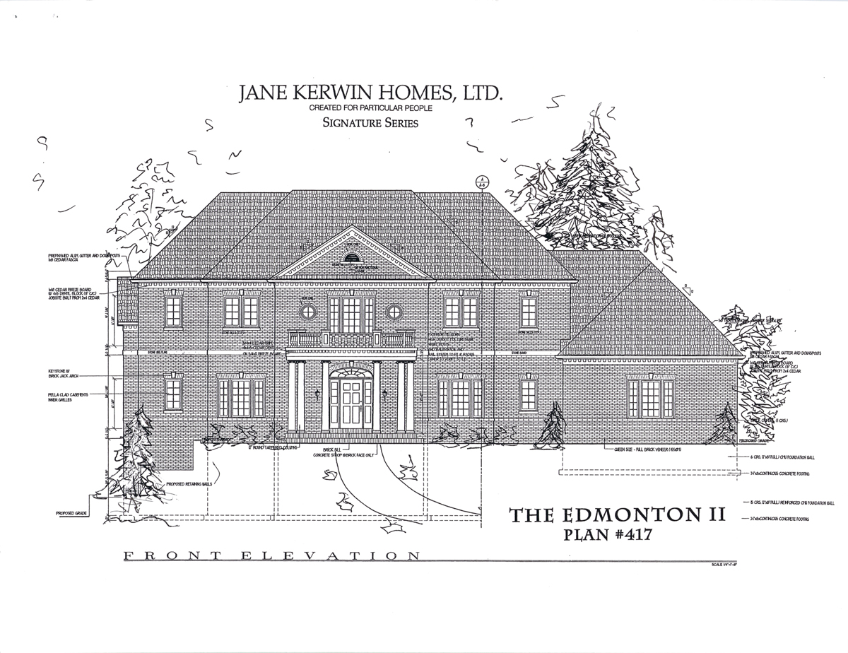 Brookfield front plan elevation